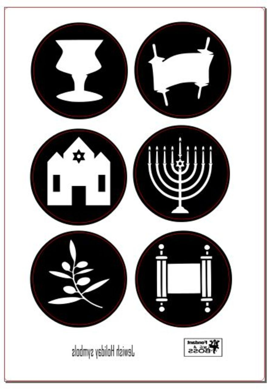 2 inch round stamps, Jewish Holiday symbol menorah fondant boss stamps