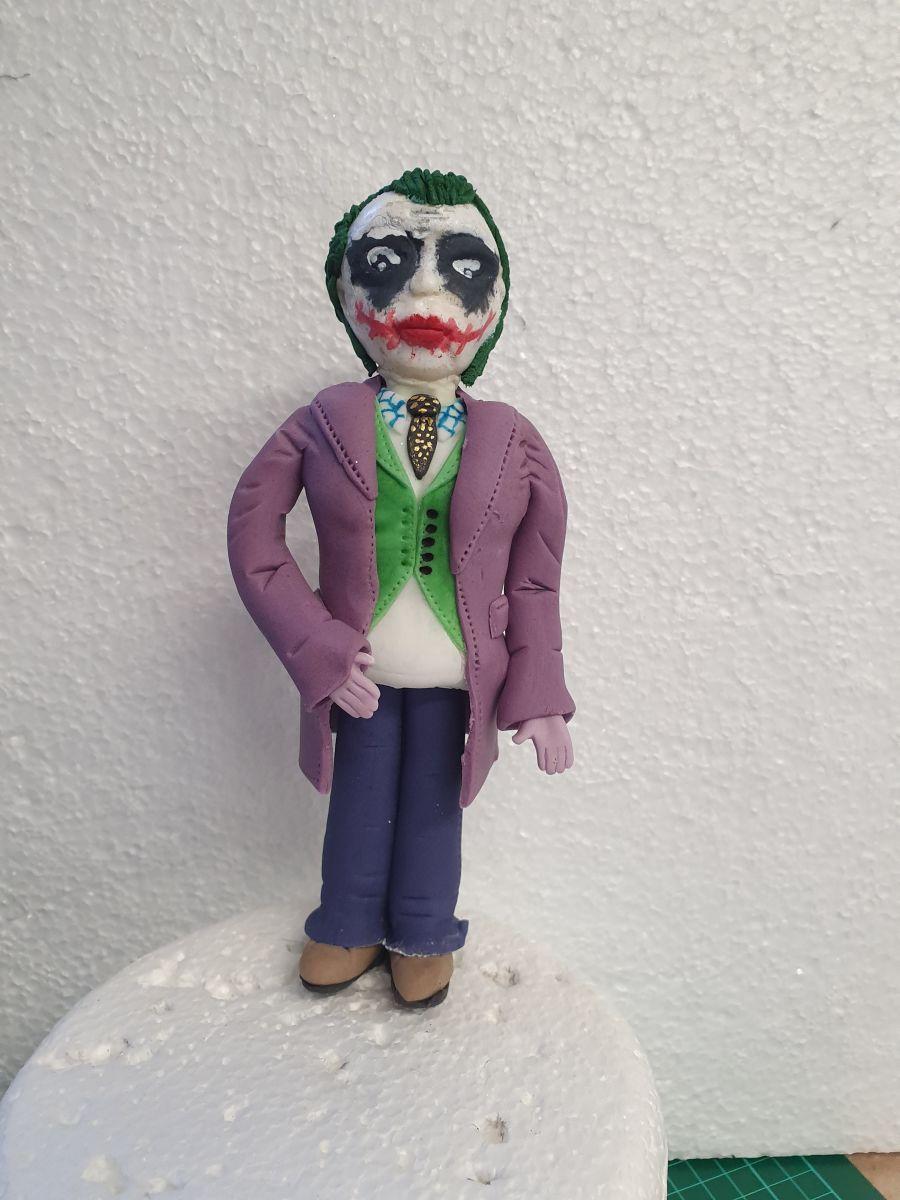 The joker cake topper handmade gumpaste model