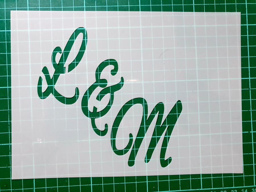 Monogram letter stencils cake decorating wedding style