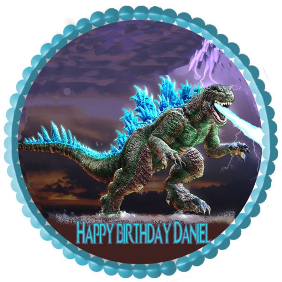 Jurassic park cake topper icing sheet or wafer paper