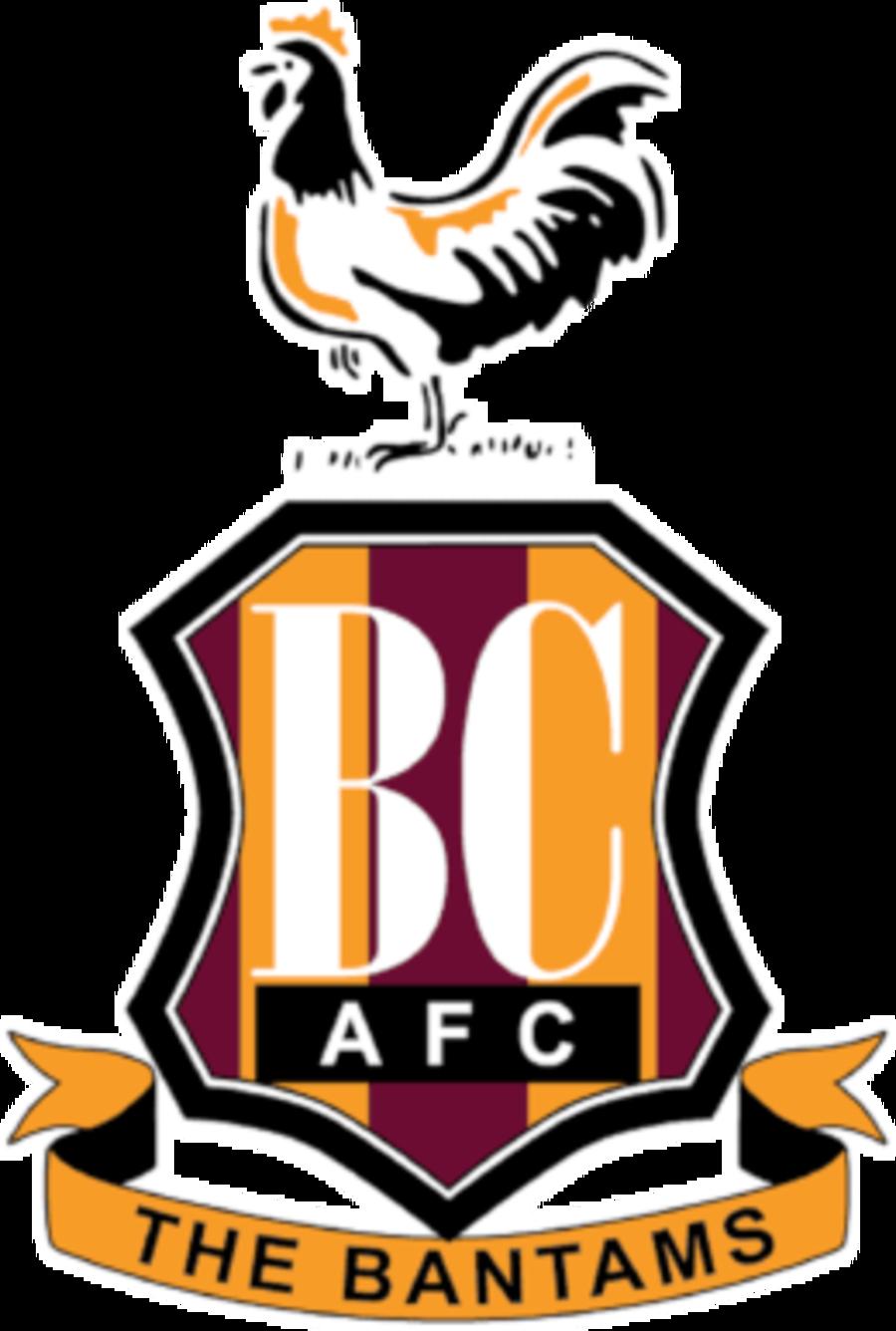 Bradford City emblem Cake topper icing or wafer sheet