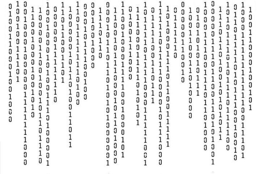 Computer graphics countdown stencil A4 size