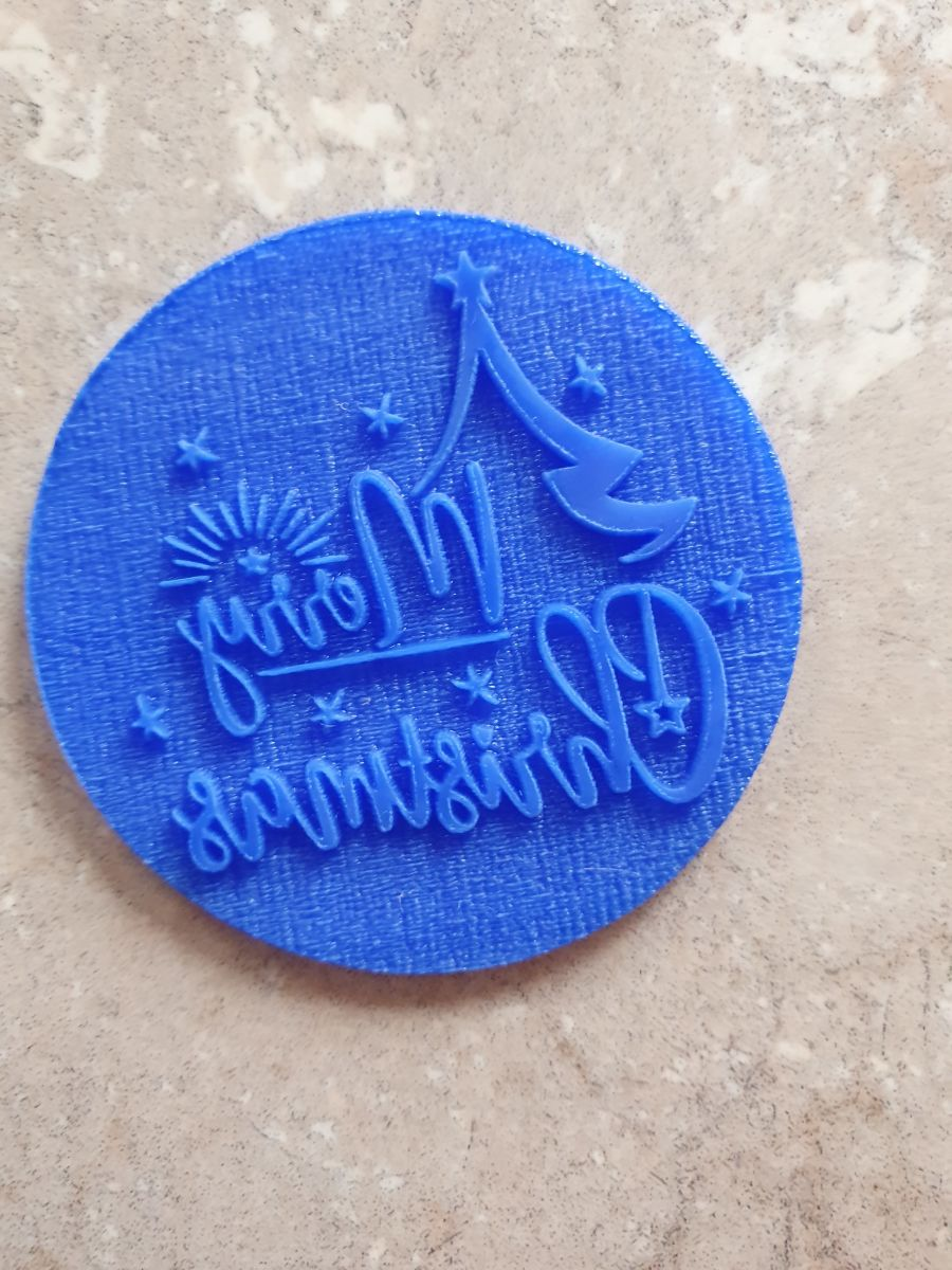 Merry Christmas acrylic stamp for fondant