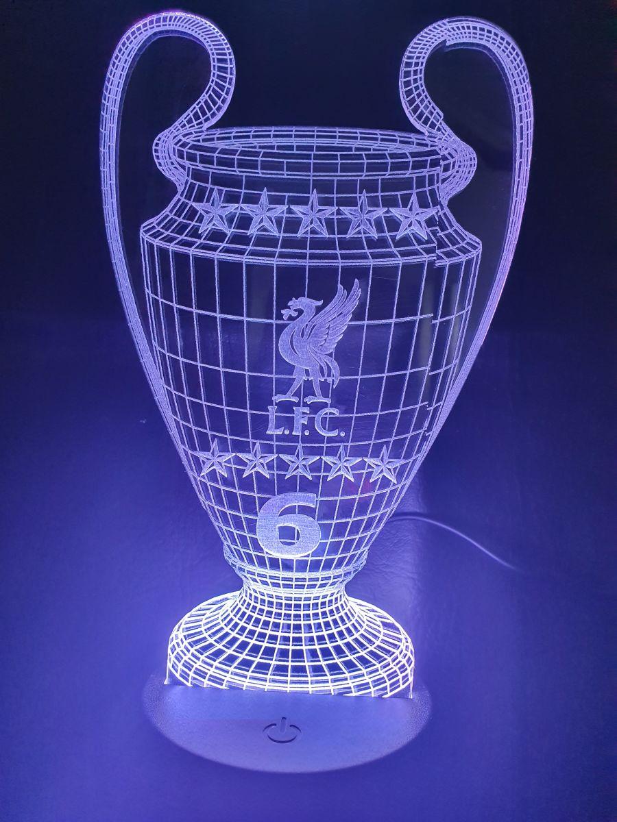 LFC champions league football cup light up cake topper night light