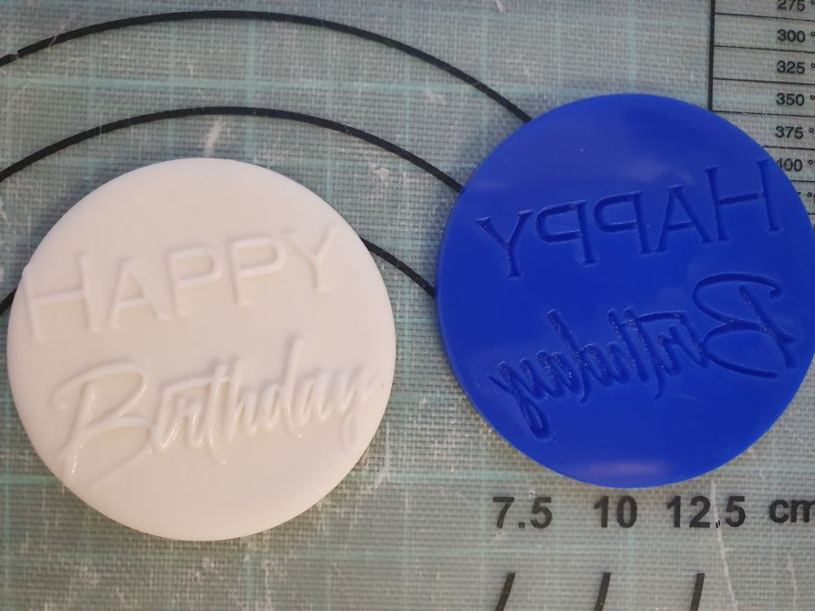 Happy Birthday Crown Heights acrylic stamp Out for fondant