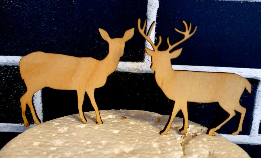 Stag Or deer any colour any name Wood cake topper