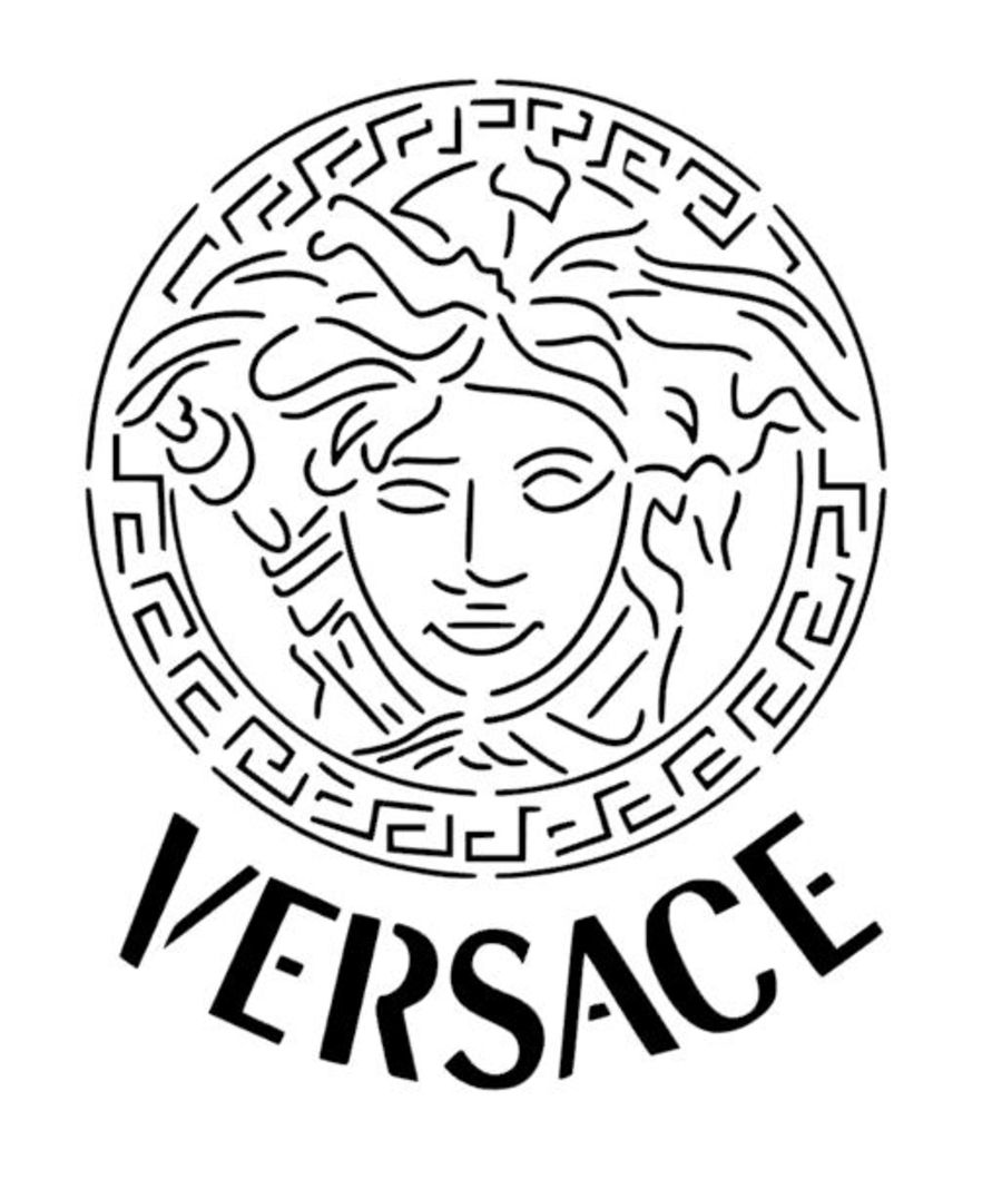 medusa Versace stencil Face only cake decorating