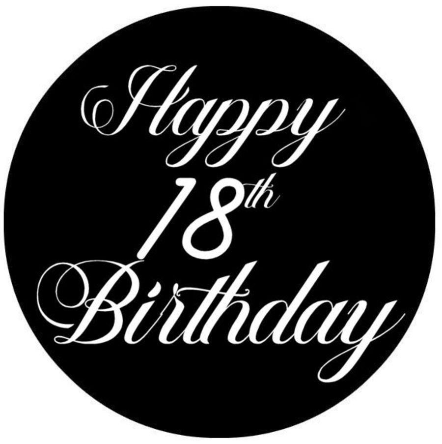 Happy 18th Birthday mariabella acrylic fondant stamp