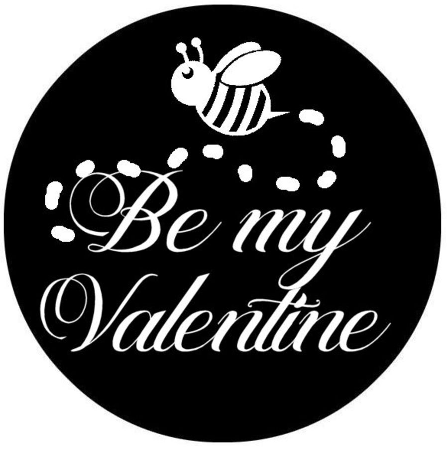 Bee my Valentine acrylic stamp for fondant