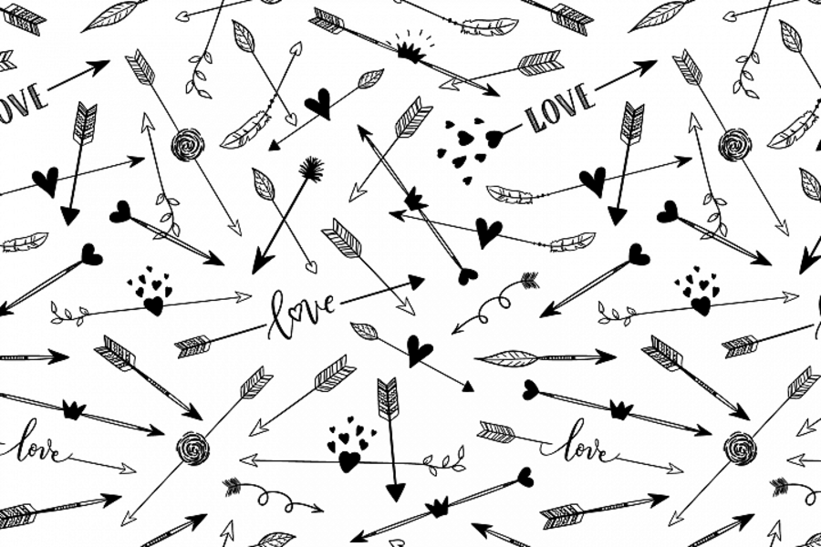 Love arrows sheets icing or wafer paper sheet A4 size