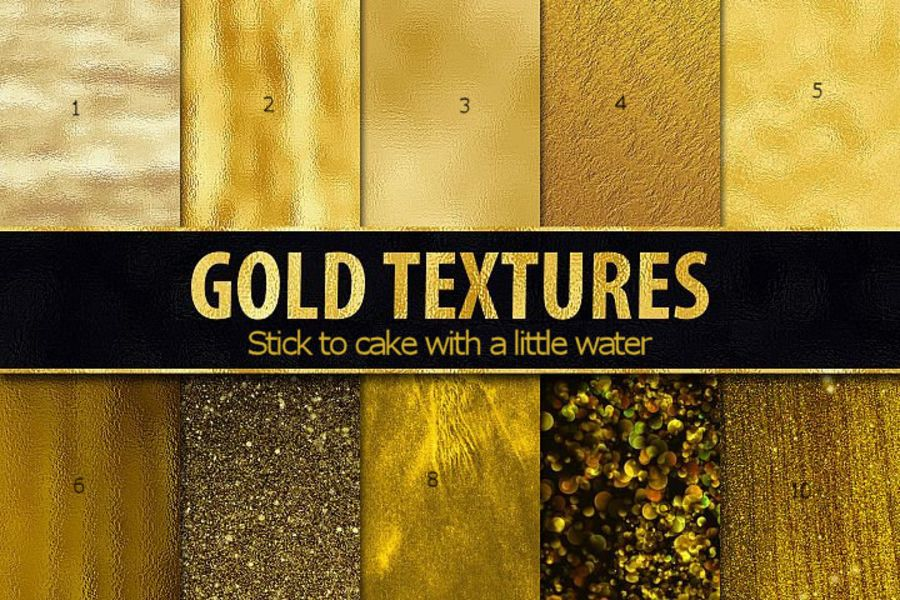 Mix of gold sheets icing or wafer paper sheet A4 size