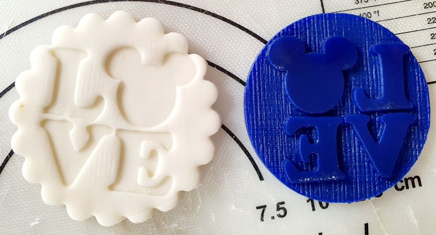Valentines day Love Mouse ears male acrylic stamp for fondant