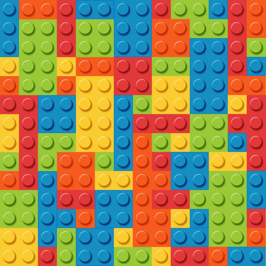 Lego blocks icing or wafer paper sheet A4 size
