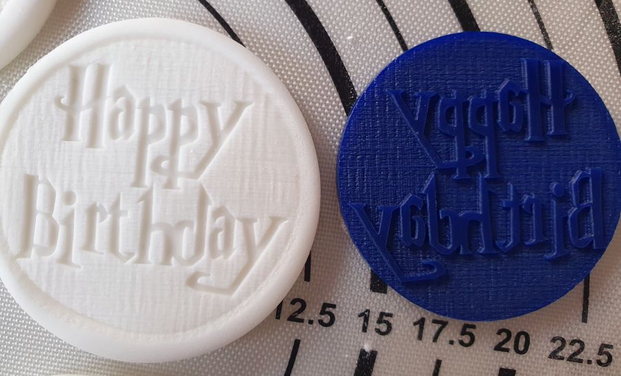Happy Birthday Harry potter acrylic stamp for fondant