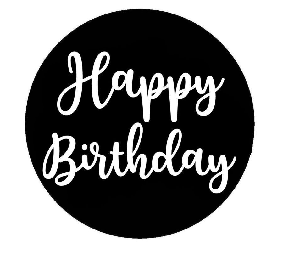 Happy Birthday Charilla acrylic stamp for fondant