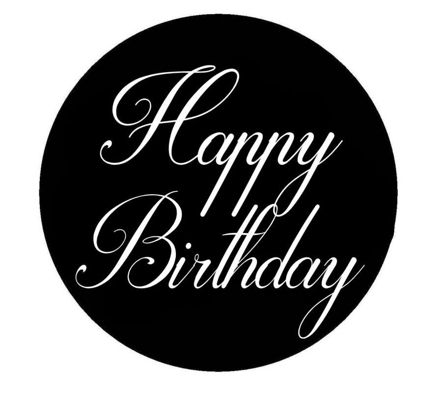 Happy Birthday Darlston acrylic stamp for fondant