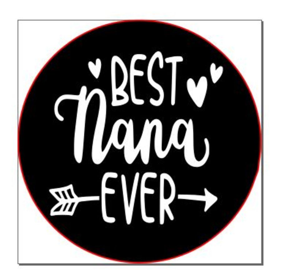 Best nana ever with arrow acrylic stamp for fondant