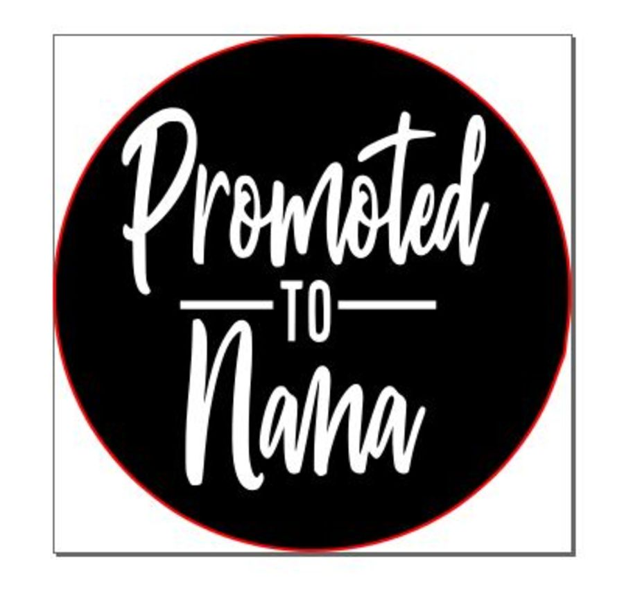 Promoted to nana acrylic stamp for fondant