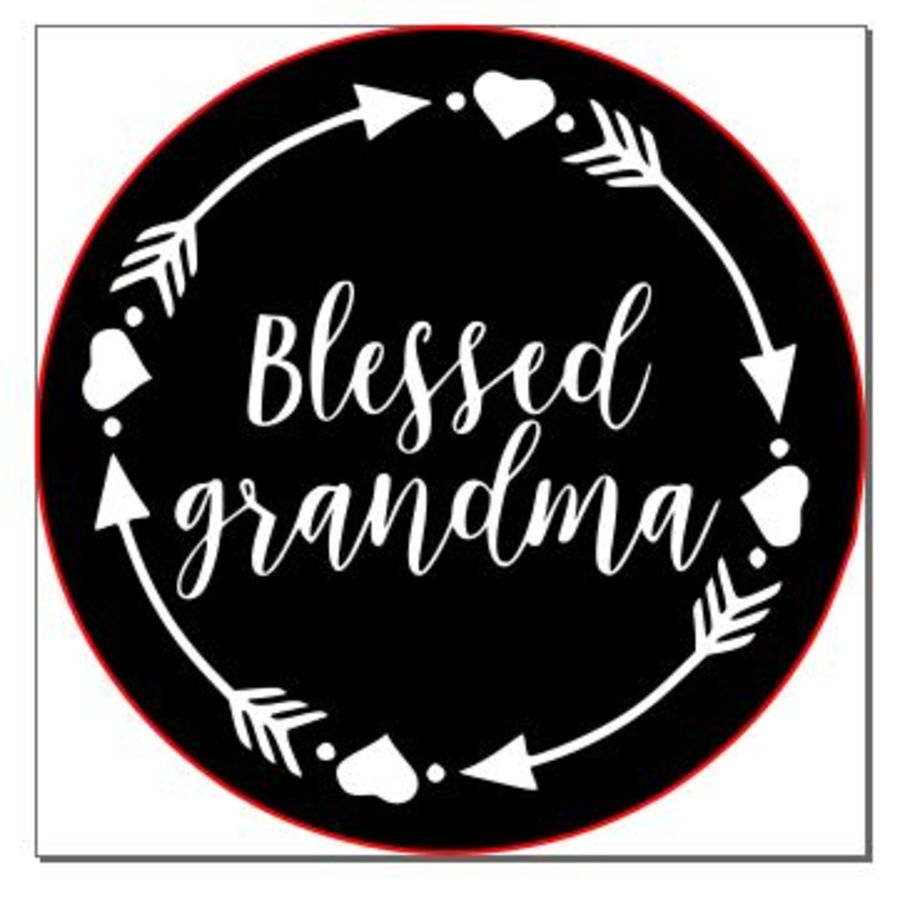 Blessed grandma with arrows acrylic stamp for fondant