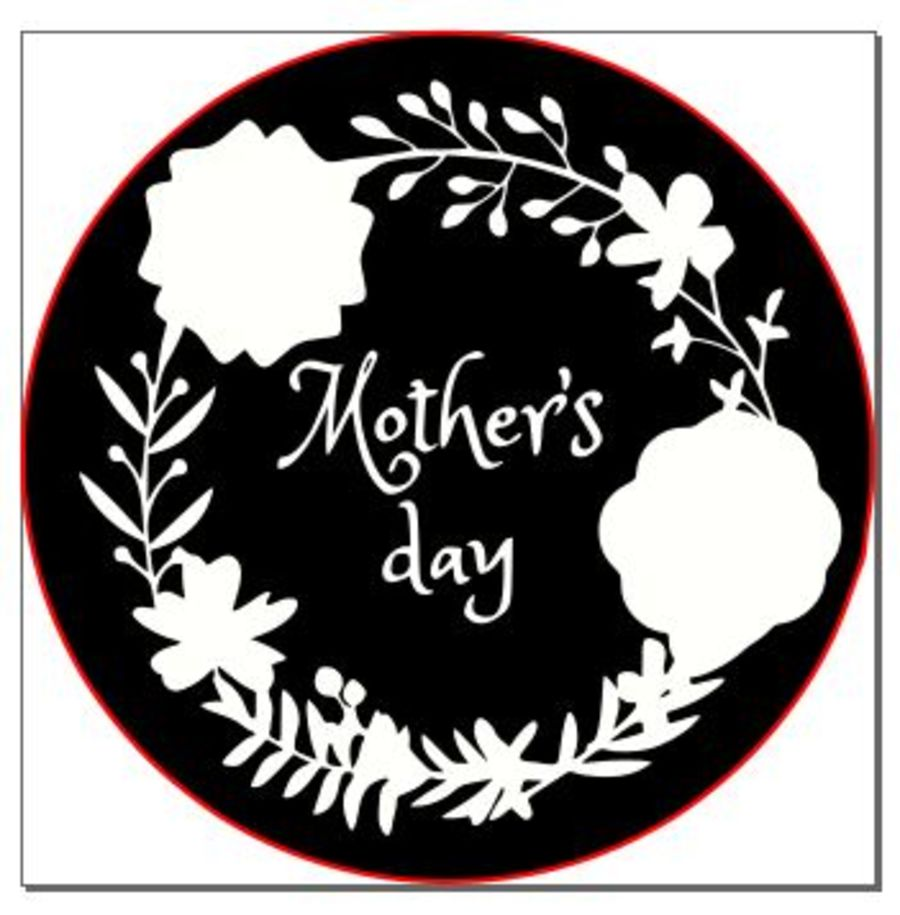 Mothers day with reath acrylic stamp for fondant