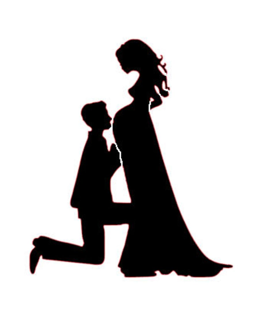 Pregnant bride and groom holding hands initials stencil