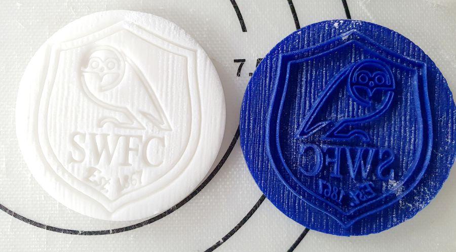 SWFC logo badge 2 inch acrylic stamp for fondant