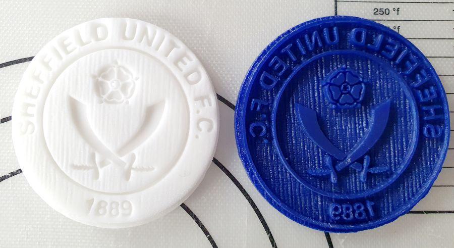sheffield united football club logo 2 inch acrylic stamp for fondant