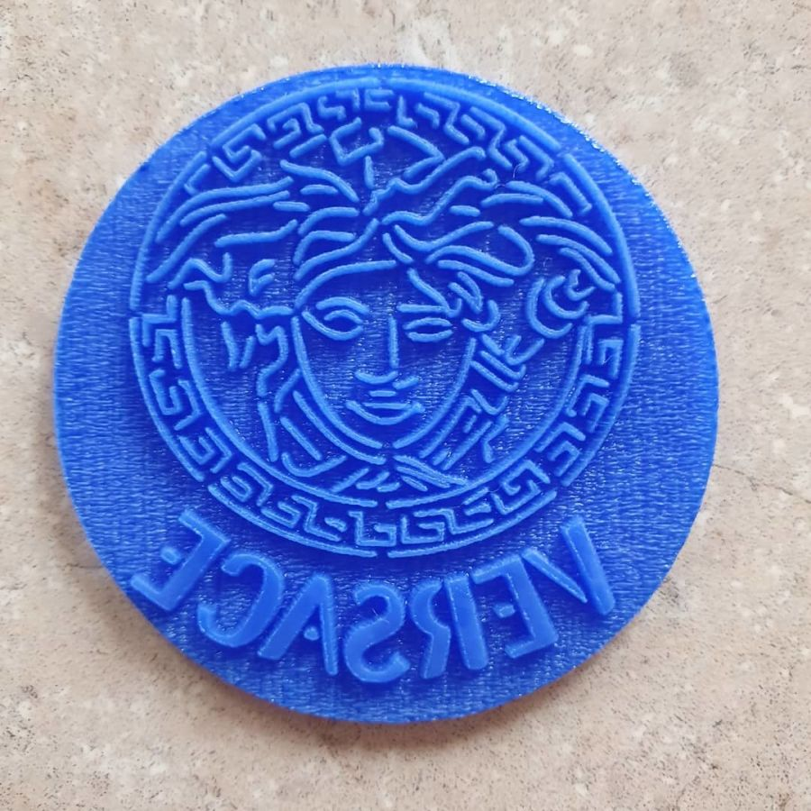 versace face 2 inch acrylic stamp for fondant