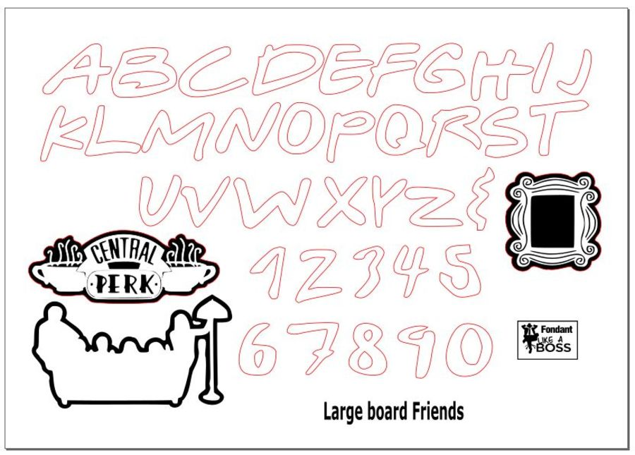 Friends tv show silhouettes and Alphabet Stamps