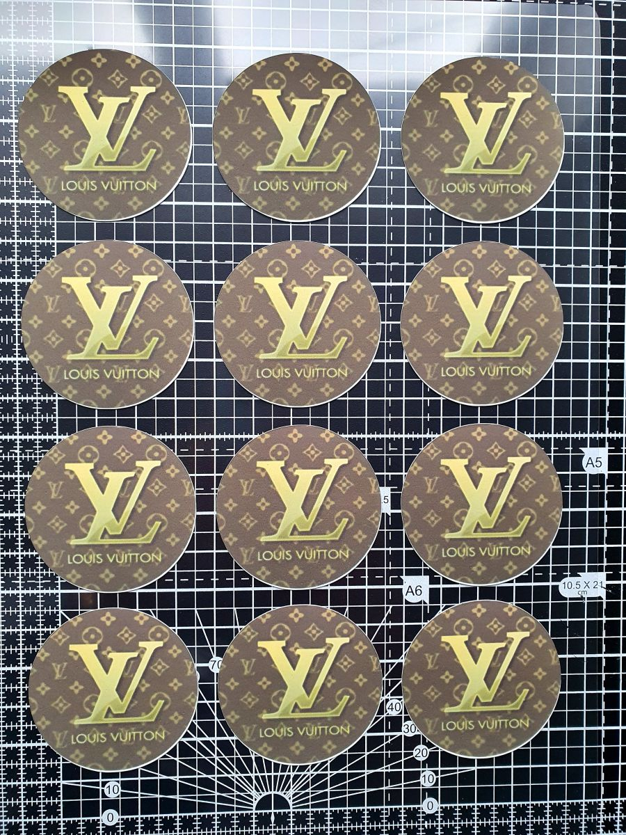 louis vuitton cupcake toppers x 12 cake decorating