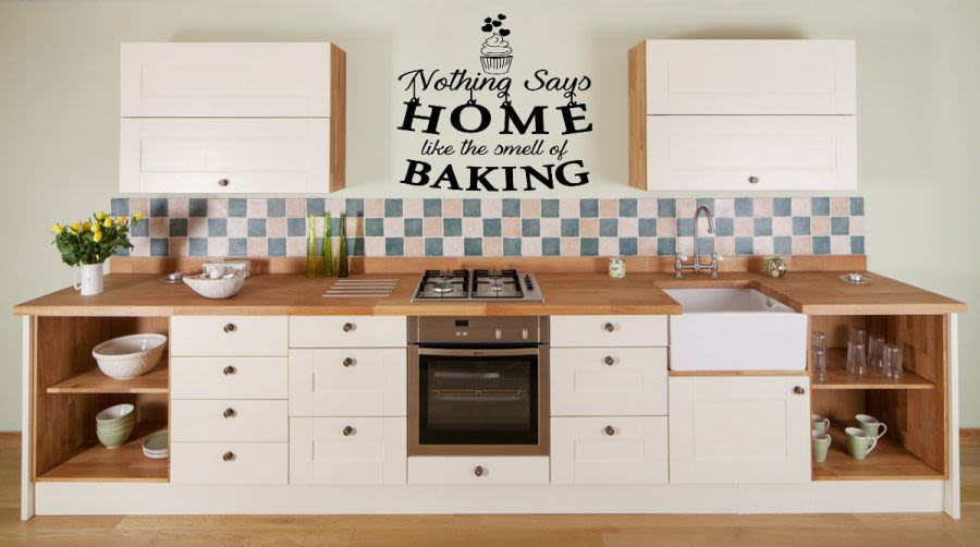 Nothing says home like home baking vinyl wall art