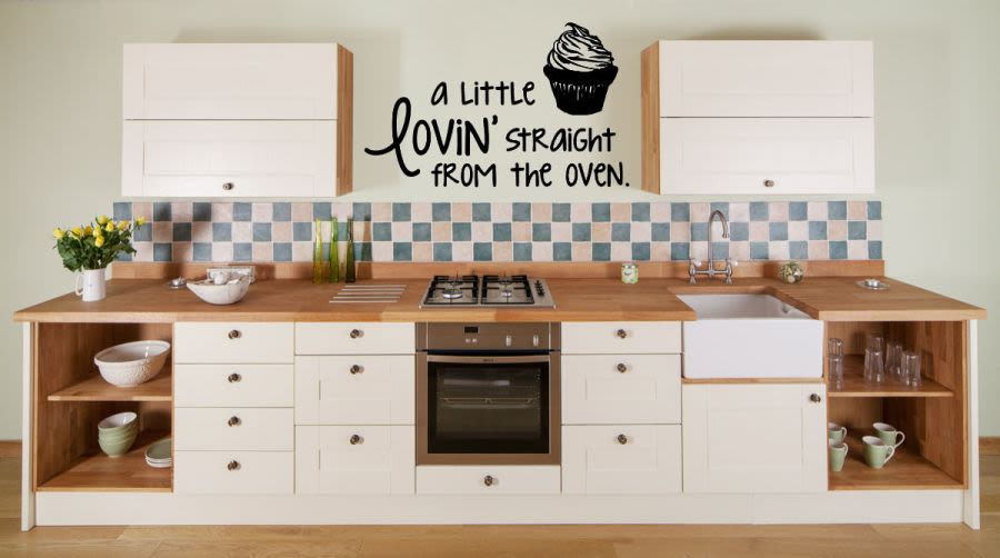 A little lovin straight from the oven vinyl wall art