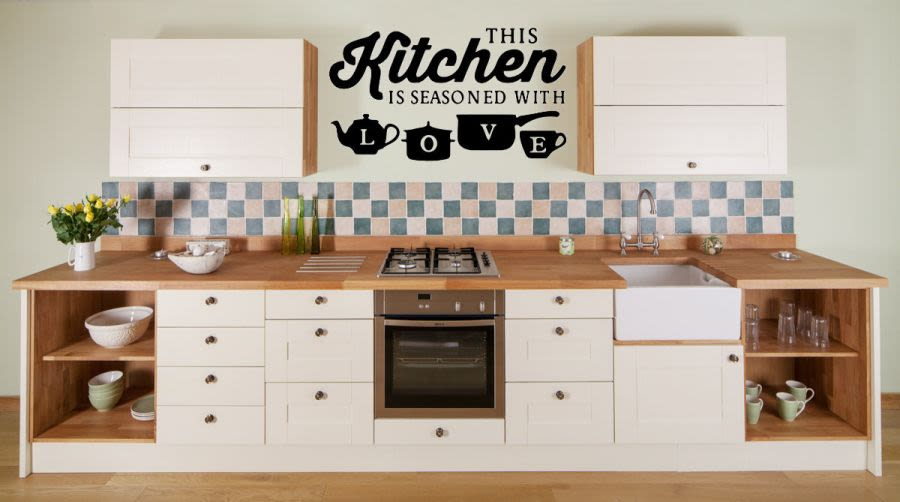 This kitchen is seasoned with love vinyl wall art