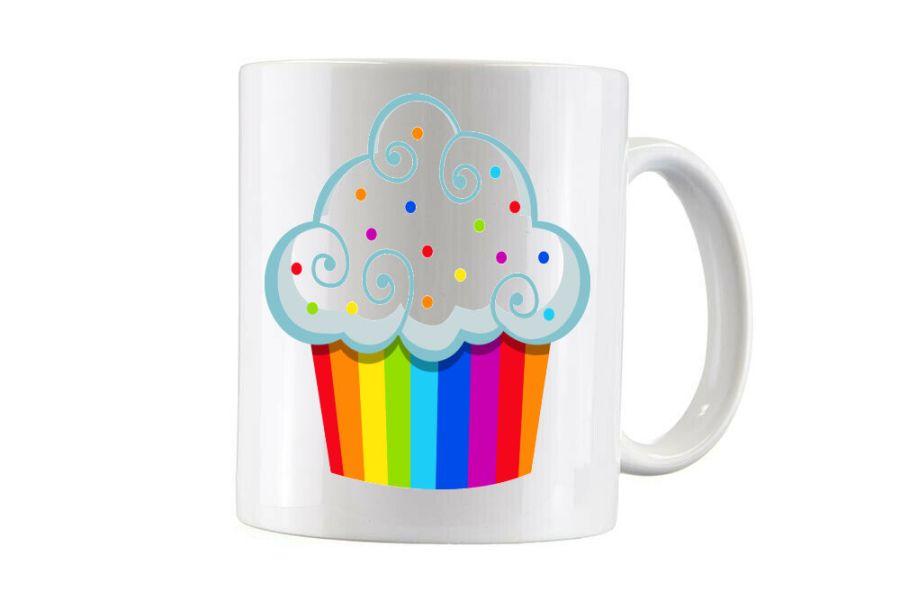 Bespoke Rainbow cupcake cup