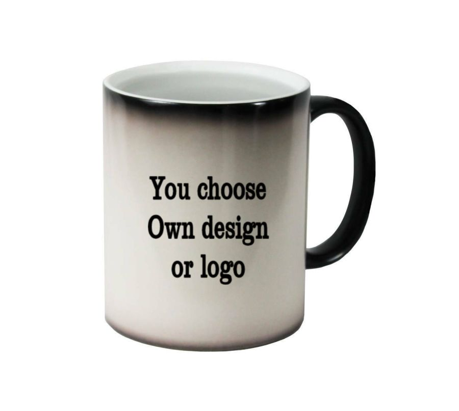 Bespoke Own design, own logo ceramic colour changing Cups