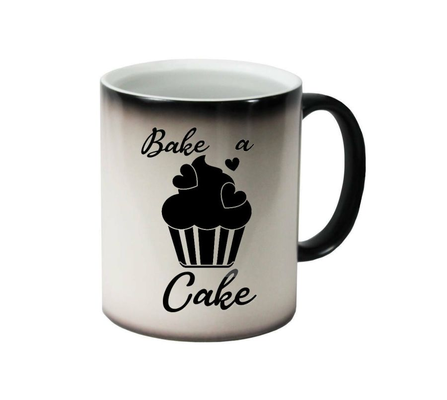 Bake a cake, with cupcake ceramic colour changing Cups