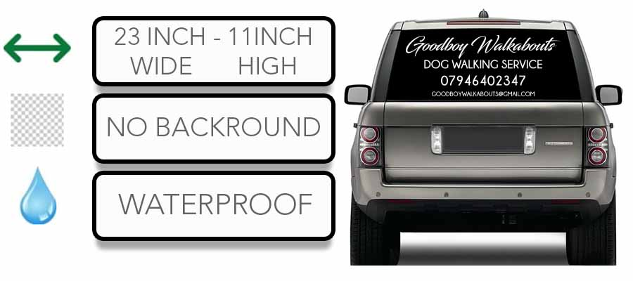 Personalised business name car sticker