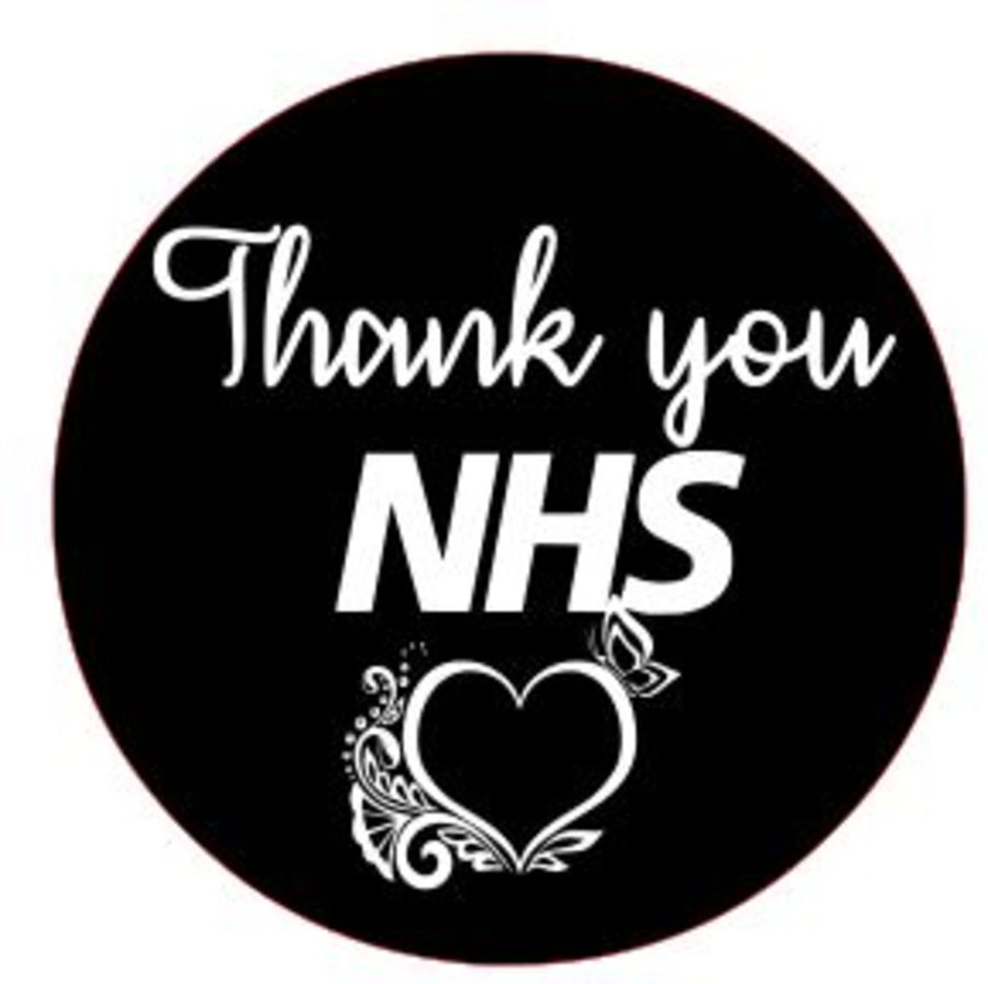 Thank you NHS with heart acrylic stamp for fondant