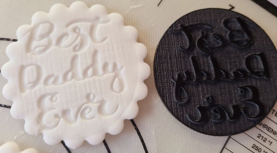 Best daddy ever Fathers day acrylic stamp for fondant