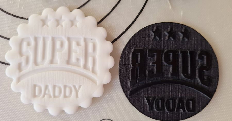 super daddy Fathers day acrylic stamp for fondant