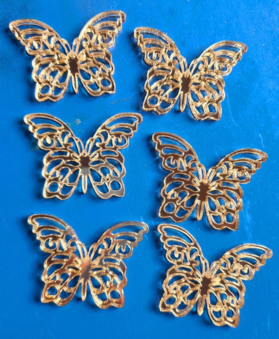 Butterfly acrylic cake topper