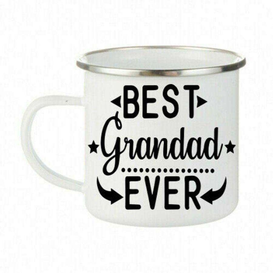 Best grandad ever Enamel Mug Stainless Steel Cups