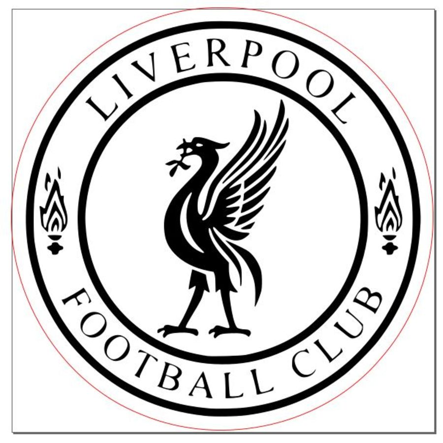 liverpool round bird badge 2 inch acrylic stamp for fondant