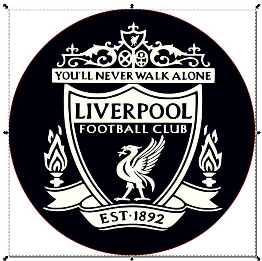 liverpool You'll never walk alone badge 2 inch acrylic stamp for fondant