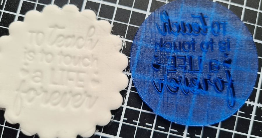To teach is to touch a life forever instamp fondant boss stamp