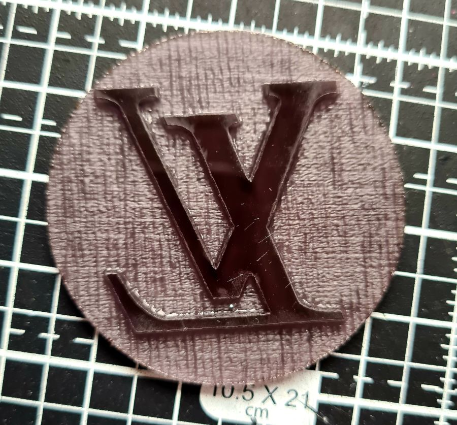 Lv Louis vuitton 2 inch acrylic stamp for fondant