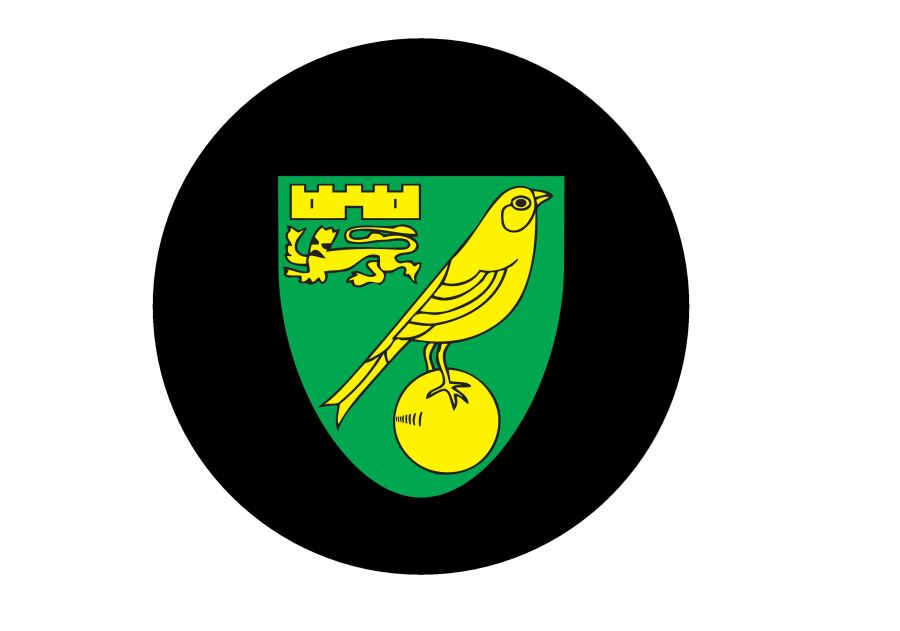 Norwich City logo Cake and cupcake toppers