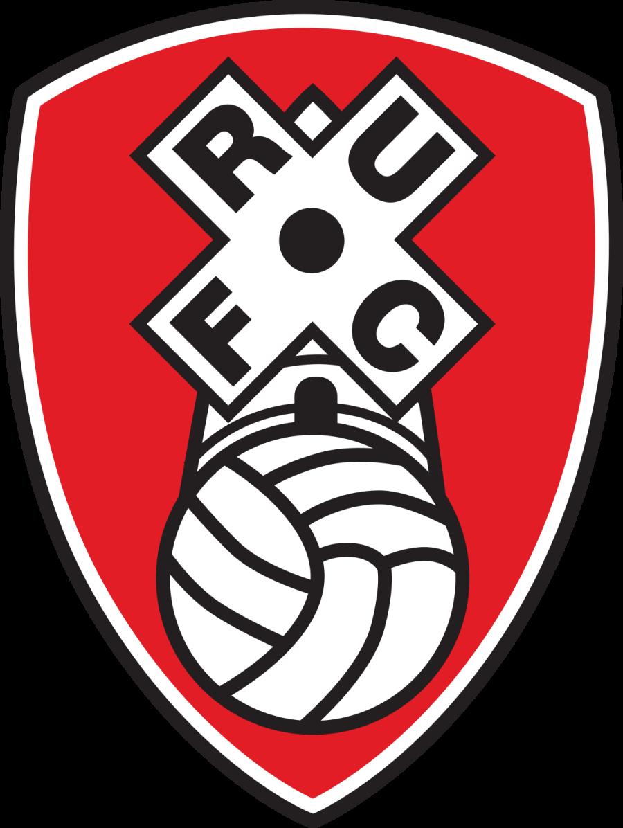 Rotherham United FC badge cupcake toppers icing sheet or sugar sheet