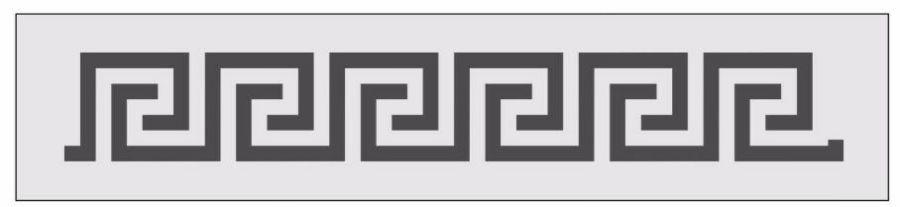Greek style stencil switch round effect