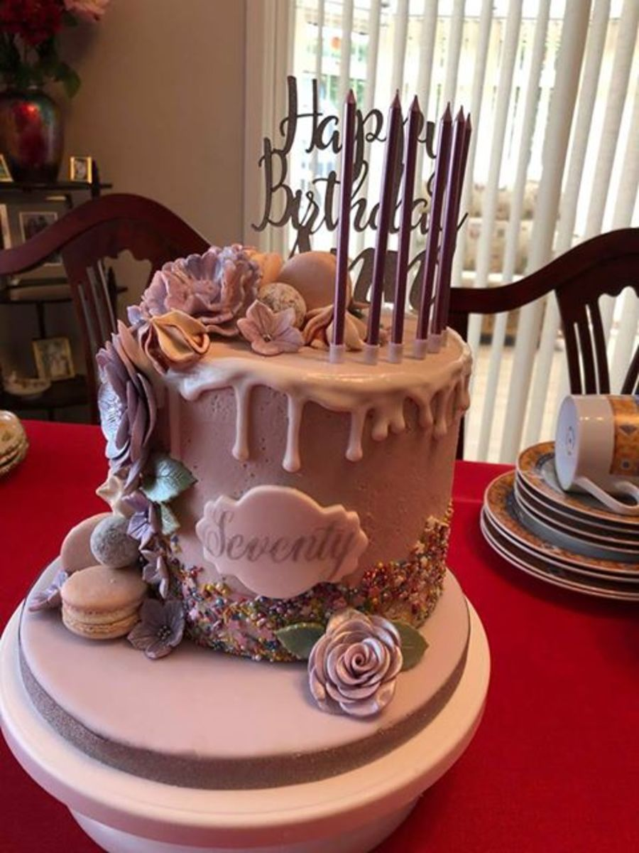 Any Wording stencil cake decorating